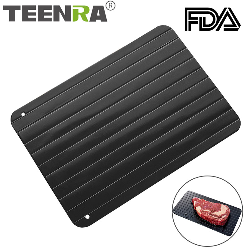 TEENRA 1Pcs Deforst Thaw Tray Food Meat Deforst Tray In Minutes Quick Deforsting Tray No Electricity Chemicals Frozen Food