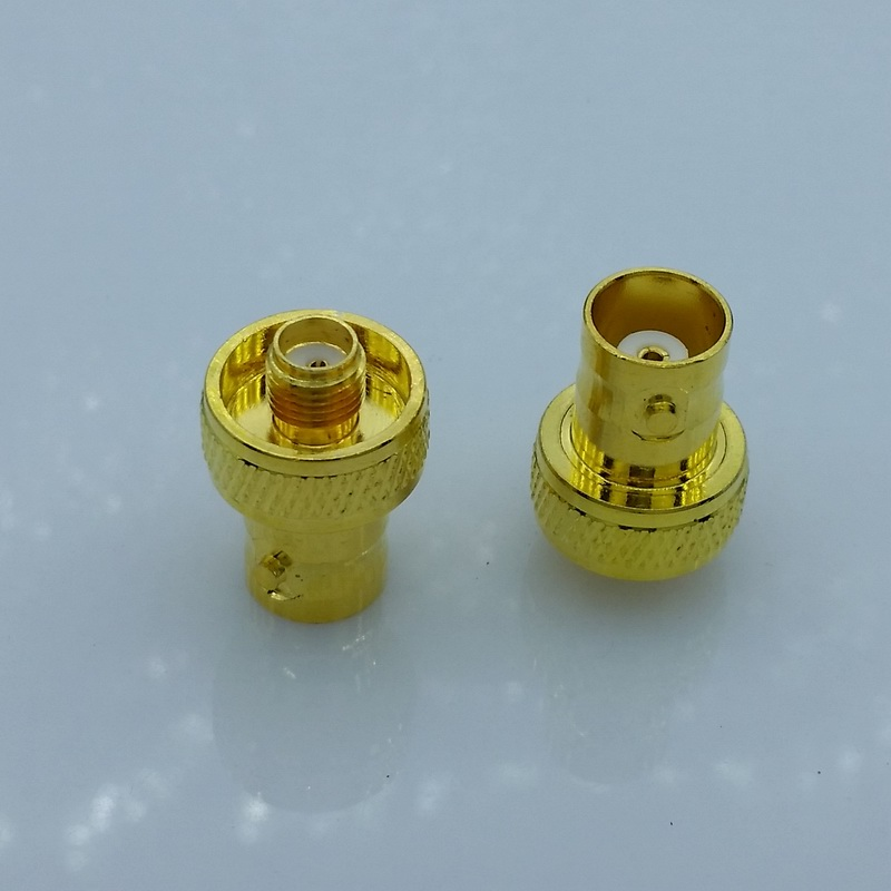 Gold plated BNC Q9 Female connector to sma Female for Antenna BNC to sma connector adapter 10pcs