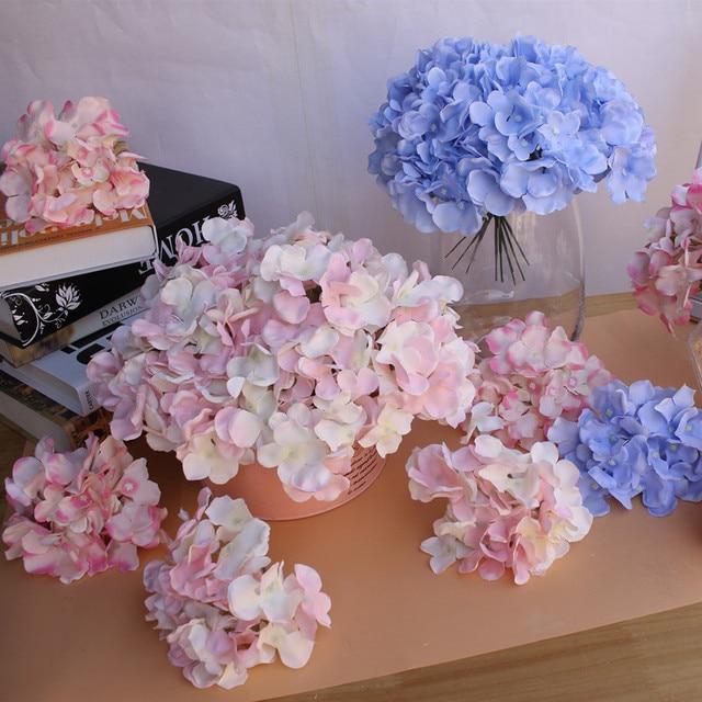 APRICOT Silk flower Wedding Decoration Artificial flowers Spring vivid Big Hydrangea wedding flowers decoration 15colors 1