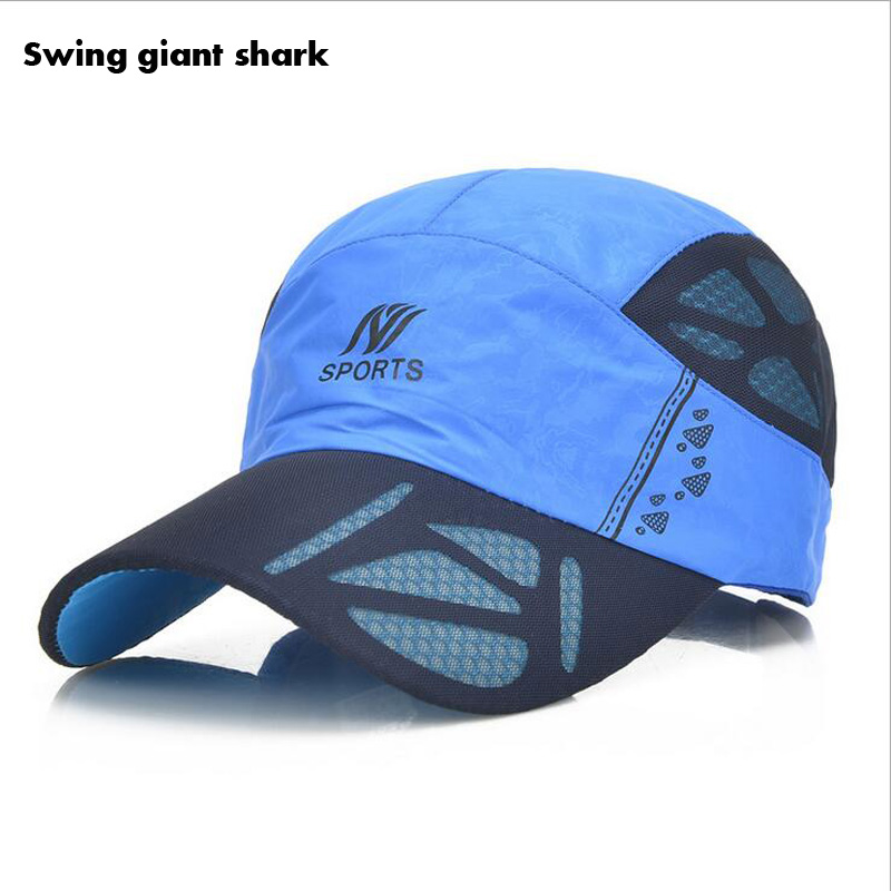 shark fin baseball cap summer mesh font men breathable quick drying paul hat