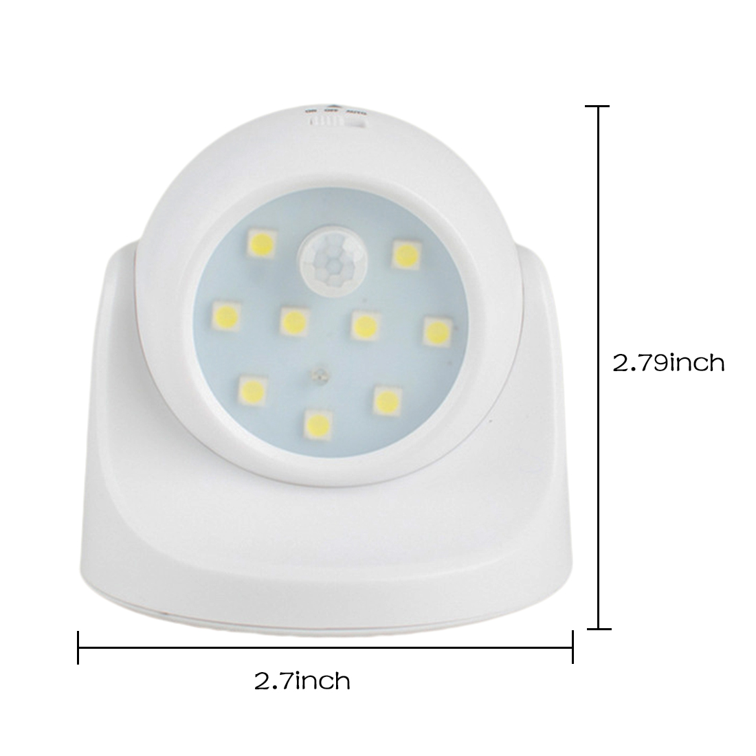 Hot 9 LED Motion Sensor Night Light 360 Degree Rotation Portable Night Light Auto IR Infrared Luminary Lamp Children Lamp LED