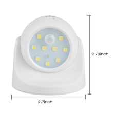 цена на Hot 9 LED Motion Sensor Night Light 360 Degree Rotation Portable Night Light Auto IR Infrared Luminary Lamp Children Lamp LED