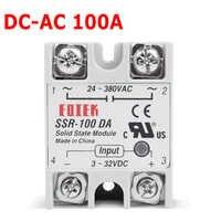 220 V Relè Industriale Relè A Stato Solido SSR 3-32 V DC di Ingresso e di Uscita 24-380VAC 100 DA 100A AC di Uscita di Carico SSR-100DA