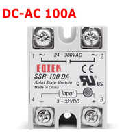 220 v relé de estado sólido industrial ssr 3-32 v dc entrada e 24-380vac saída 100 da 100a ac carga de saída SSR-100DA