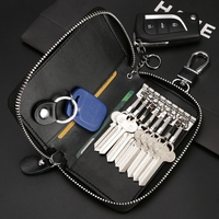 Car Key Case Leather Keychain Waist Chain Wallet Styling Fashion Housekeeper Holders 8 Key Rings For