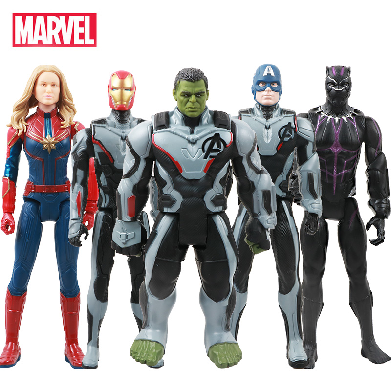 30cm Marvel Avengers 4 Endgame Toy Thanos Hulk Spiderman Iron Man Thor Wolverine Black Panther Venom Action Figure Kid kayak suit