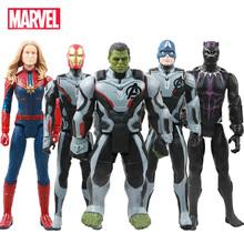 30cm Marvel Avengers 4 Endgame Toy Thanos Hulk Spiderman Iron Man Thor Wolverine czarna pantera Venom figurka Kid tanie tanio Disney Model Puppets Wyroby gotowe Unisex 1 60 Second edition 3 lat Zapas rzeczy Film i telewizja Żołnierz gotowy produkt