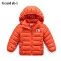 Crianças Revestimentos encapuçados casaco leve para as meninas moda jaquetas de algodão para Menino Crianças Jaquetas Casaco de Inverno das meninas do Menino de Alta Qualidade