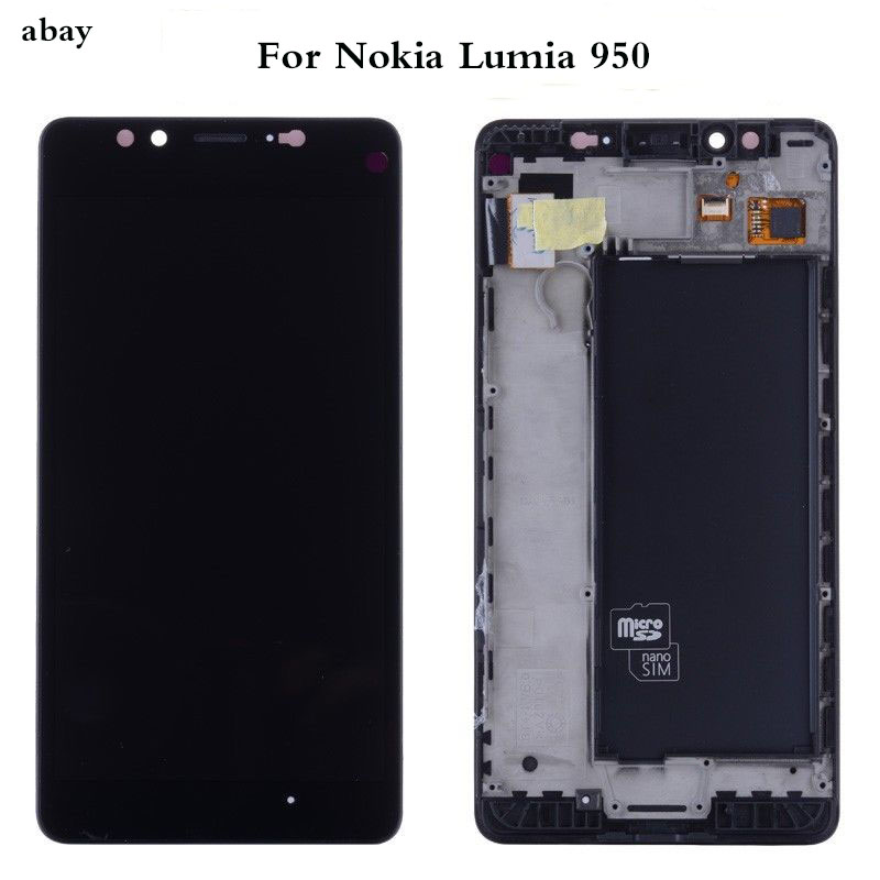5.2 inch For Microsoft Nokia <font><b>Lumia</b></font> <font><b>950</b></font> LCD Display with Touch Screen Digitizer Assembly With frame Replacement <font><b>Parts</b></font> image