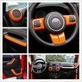 Volante de Ajuste de Aire Acondicionado Ventilación Interior Accesorios Kits de Puerta Cubierta de La Manija ABS Cromo Para Jeep Wrangler JK 2 Door