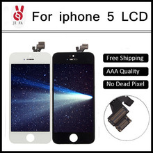 10PCS LOT AAA No Dead Pixel pantalla ecran for IPhone 5 LCD Display Touch Screen Digitizer