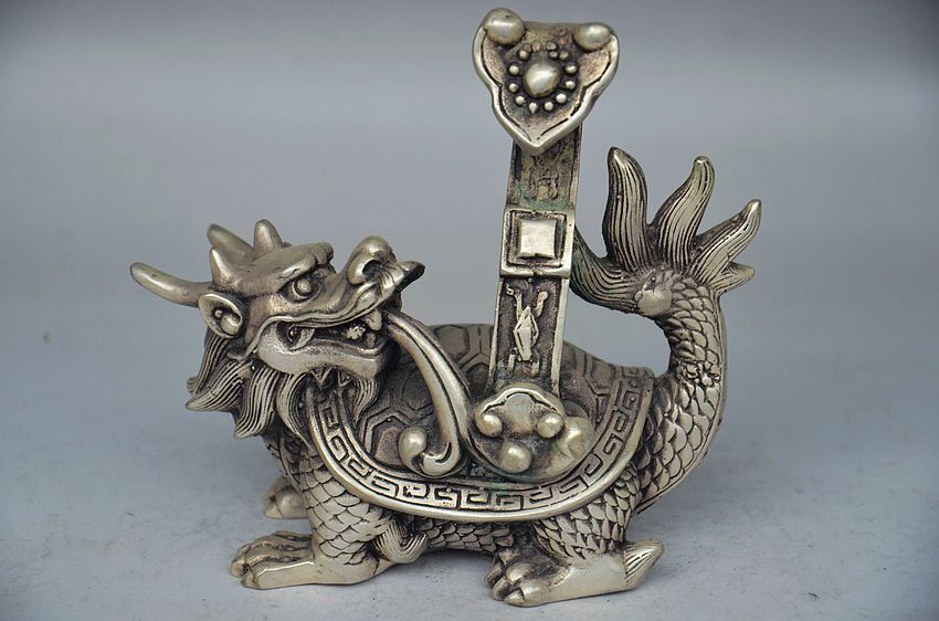 Details about  COLLECTIBLE CHINESE SILER COPPER HANDWORK DRAGON TURTLE RUYI STATUEDetails about  COLLECTIBLE CHINESE SILER COPPER HANDWORK DRAGON TURTLE RUYI STATUE