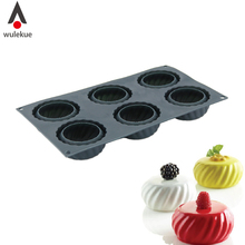 Wulekue 1PCS Silicone 3D Mooncake Shape Mold Cake Baking Decorating Tools For Chocolate Mousse Desserts Pastry Moulds