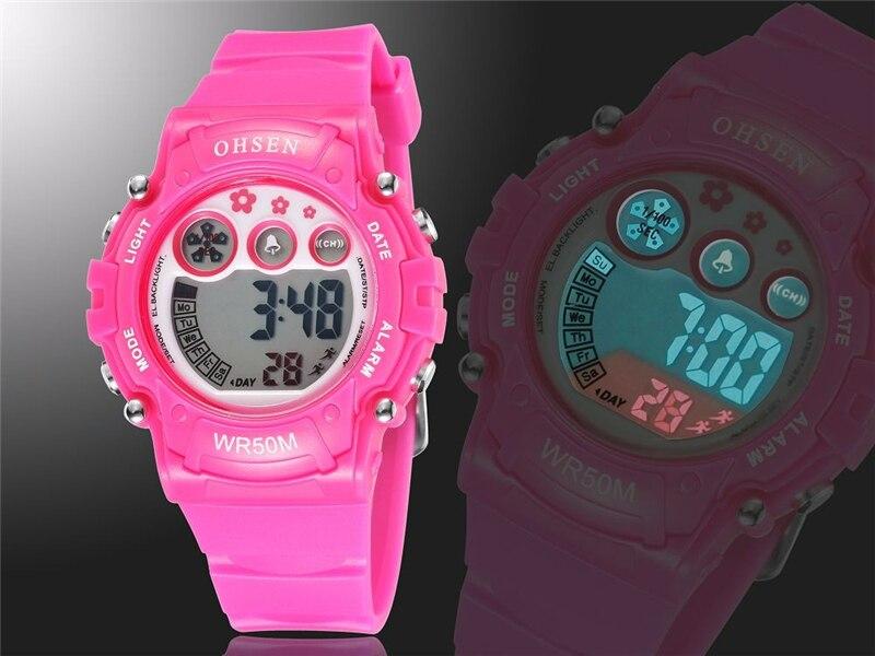 New 2019 OHSEN Digital Quartz Kids Boys Fashion Sports Wristwatch Rubber Band 50M Waterproof Sport Cartoon Cute Children Watches (15)