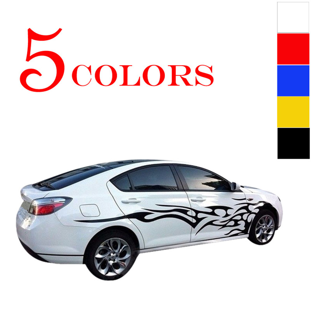 Universal 1 Pair Car Stickers Whole Body Fire Flame Decor ...