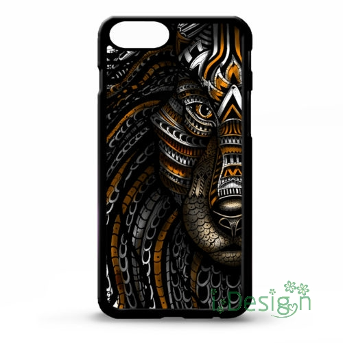 Fit for iPhone 4 4s 5 5s 5c se 6 6s 7 plus ipod touch 4/5/6 back cellphone case cover Tiger animal face aztec pattern tattoo