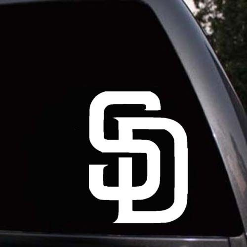 Car styling for san diego padres decals