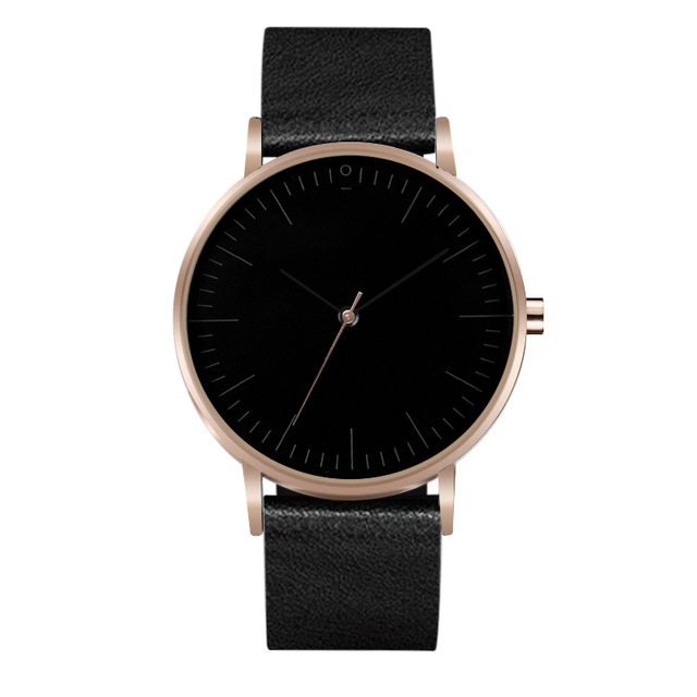 Super Minimalist Men Wristwatches Leather Strap Watches Casual Fashion Slim Supe