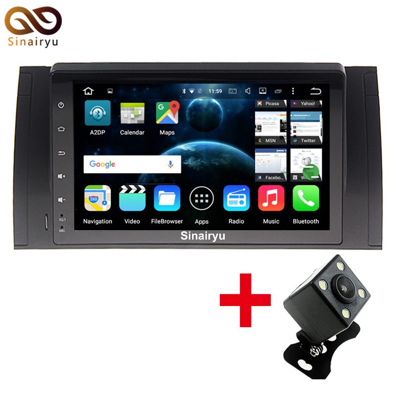 Sinairyu 9&#8242; inch Car DVD player Radio GPS For BMW E53 E39 X5 <font><b>on</b></font> Operation System Android 7.1