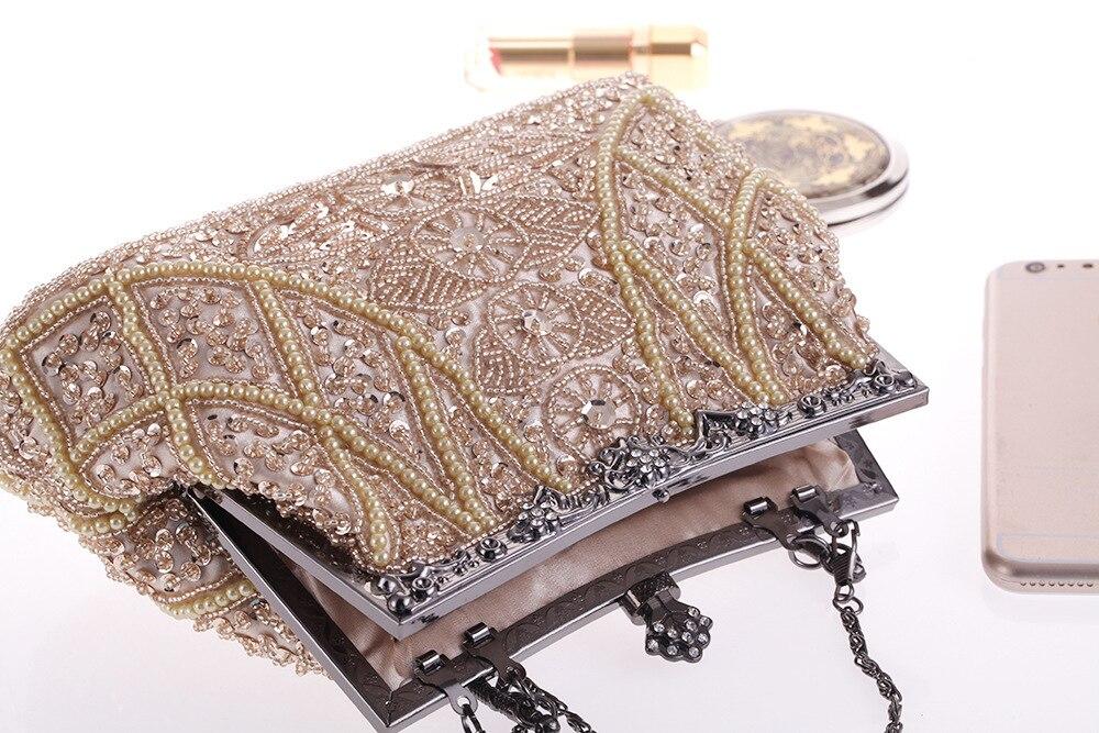 1920s Flapper Clutch Gatsby Pearl Handbag Roaring 20s Evening Clutch Beaded Bag 1920s Gatsby Costume Accessories 1