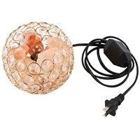 Shgo lâmpada de sal do himalaia ouro cristal mar sal rocha lâmpada tigela 15 w lâmpadas  base de liga  controlador regulável  cabo ul listado  eua plug|Luminária de mesa| |  -