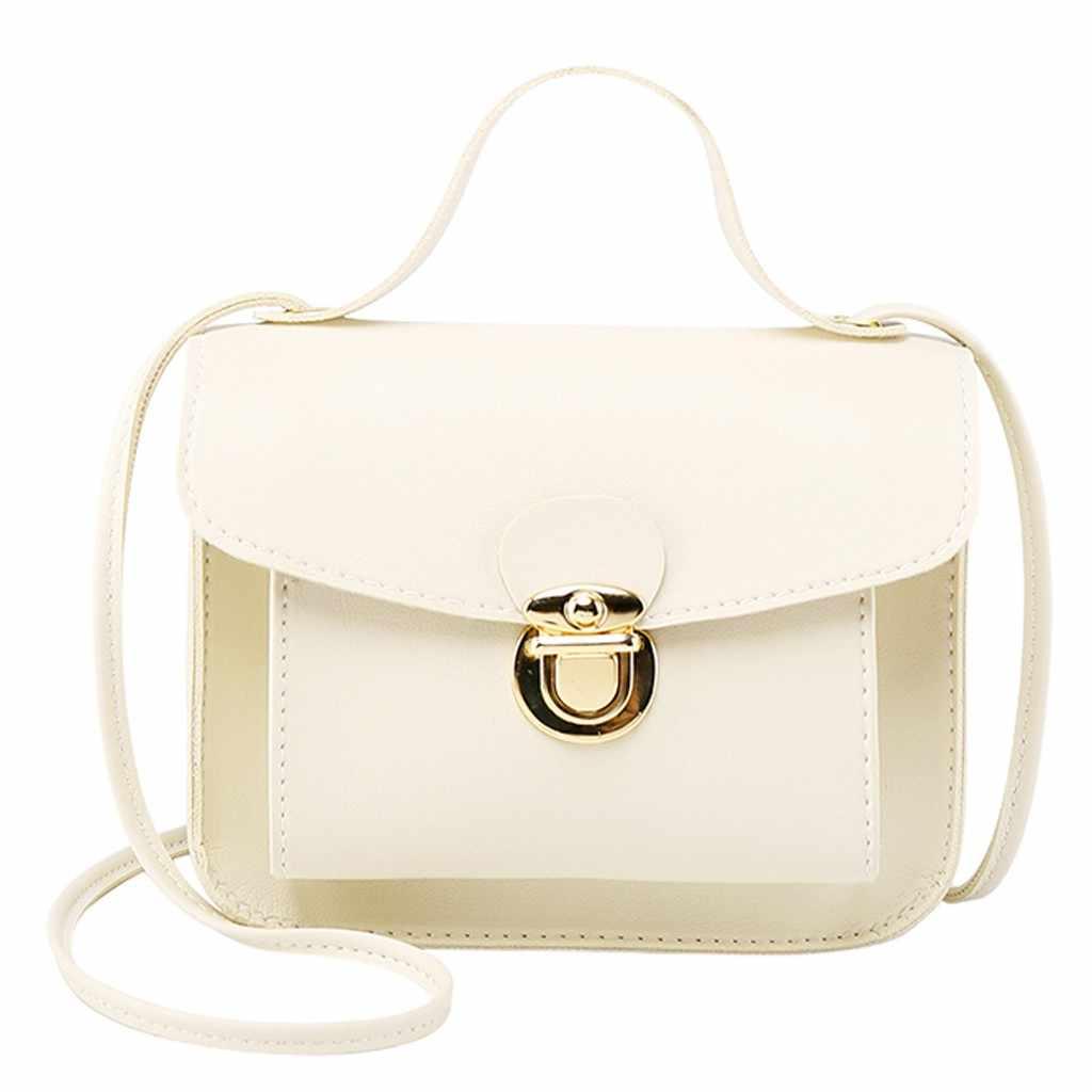 Mode petit bandoulière sacs pour femmes 2019 élégant serrure en cuir PU dame épaules lettre sac à main téléphone portable sac de messager