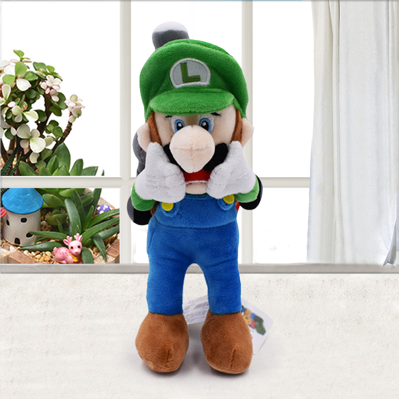 Hot Super Mario Series Scared Luigi Mansion High Quality Soft Stuffed Plush Toy Doll For Boy Birthday GiftHot Super Mario Series Scared Luigi Mansion High Quality Soft Stuffed Plush Toy Doll For Boy Birthday Gift