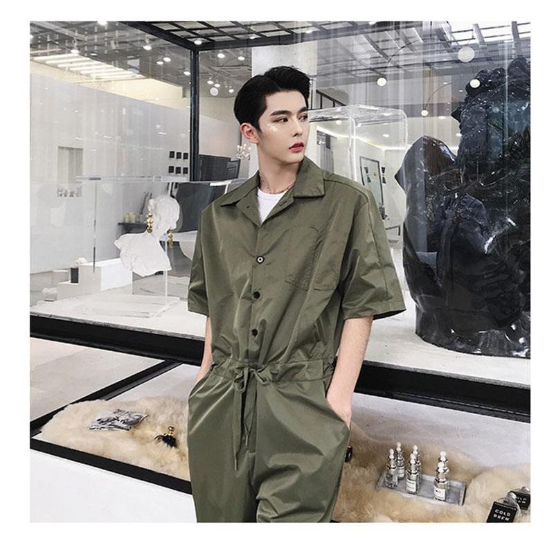 ff3d6ad14fa5 Jumpsuit Overalls Men Black Conjoined Pants Mens Romper Suit Streetwear  Jumpsuit Cargo Tracksuits Male Set Man Playsuit Lt151-in Men s Sets from  Men s ...