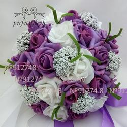 Perfectlifeoh букет горячая Распродажа искусственные пенные цветы из пенопласта розы для свадебной церемонии букет невесты свадебные букеты