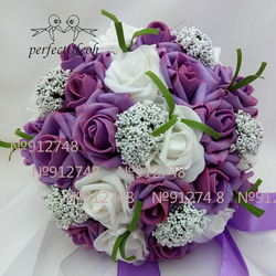 perfectlifeoh bouquet Hotsale Artificial Foam Flowers Foam Roses For Wedding Arrangement Bridal Bouquet Wedding Bouquets