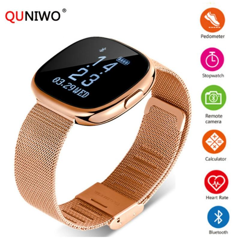 все цены на 2018 New Women Smart Watch H2 Plus Metal Strap Bluetooth Wrist Men Smart Bracelet Support Sim TF Card Android&IOS Watch Sport онлайн
