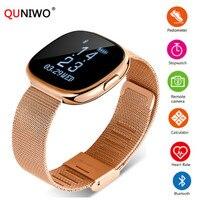 2018 New Women Smart Watch H2 Plus Metal Strap Bluetooth Wrist Men Smart Bracelet Support Sim TF Card Android&IOS Watch Sport