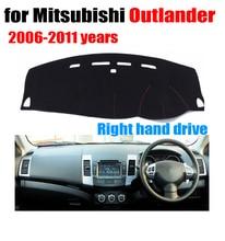 RKAC приборной панели автомобиля охватывает мат для Mitsubishi Outlander 2006-2011 лет правым custom FIT автомобиля тире pad авто аксессуары