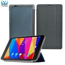 YUNAI 8 pulgadas tri-fold Soporte Pu Cubierta de la Caja Protectora de La Piel Shell Protector Para Tablet Cube T8/T8 Super/T8 Más/Ultimate