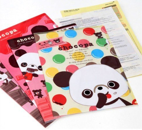 .fashion lovely sweet panda fashion gift File folder . A4 documents file bag.stationery Filing Production.new arrival