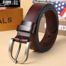 2016 New Genuine L Leather Good Quality Business Mens Belt Luxury Designer Brand Buckle Male Belts for Women V Jeans H  Belts