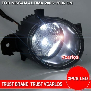 Free Shipping LED Fog Lights Lamp For NISSAN ALTIMA 20052006 Clear Lens PAIR SET