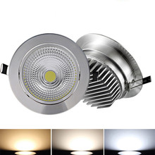 10X  Dimmable 5W/7W/9W/15W LED COB Downlight AC85-265V light indoor