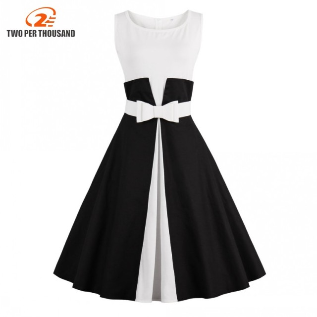 Vintage black and white cocktail dresses