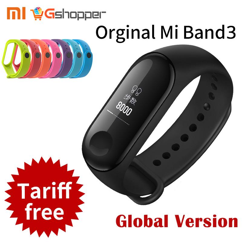 Global Version Original Xiaomi Mi Band 3 Miband 3 Fitness Tracker Heart Rate Monitor 0.78'' OLED Display Touchpad Android IOS