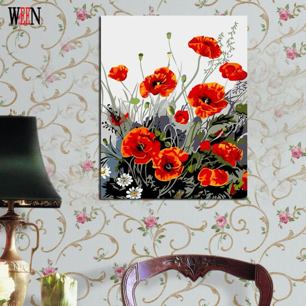 Online buy wholesale canvas picture from china canvas for Diy flower canvas wall art