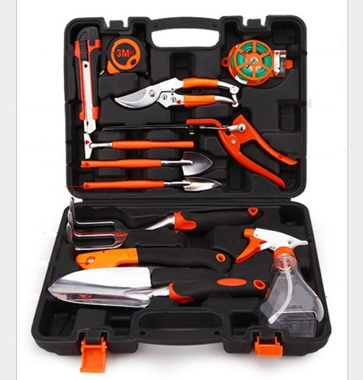 Urijk 12Pcs Combination Garden Tools Sets Steel tape Utility Knife Shovel Spray bottle Gardening shears High quality Set genuine thick stainless steel outdoor garden shovel gardening tools big farm