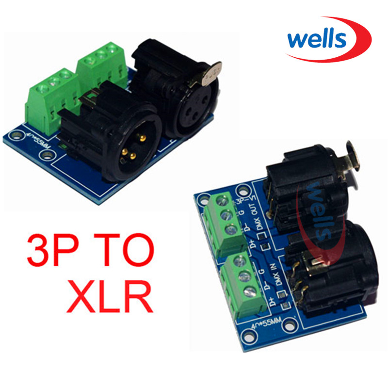 DMX512 XLR3 priključak na 3pin, 3Pin u XLR3, koristite za DMX - Različiti rasvjetni pribor - Foto 3