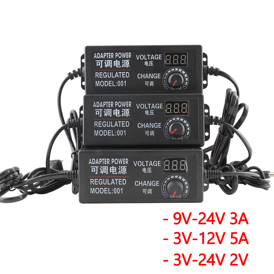 DC 12V <font><b>24V</b></font> Universal power supply switch 3v 9v voltage Regulated Adjustable Charger Display Screen Power Switching For LED Strip image