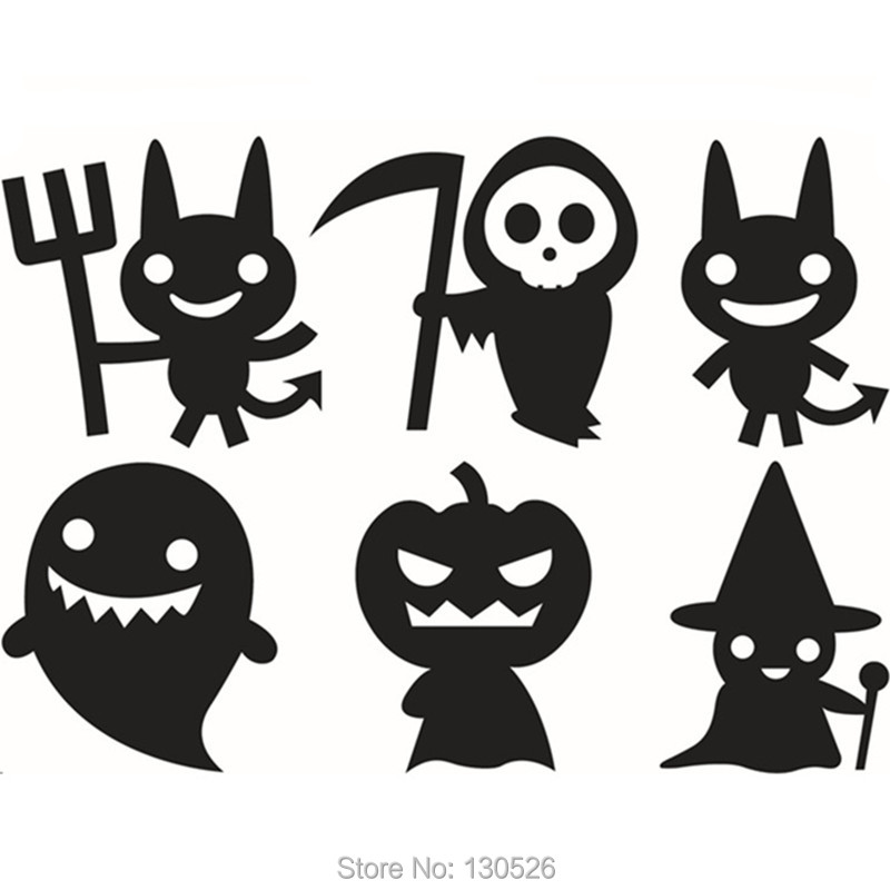 Halloween Wall Stickers Decorative Ghost Pumpkin Stickers