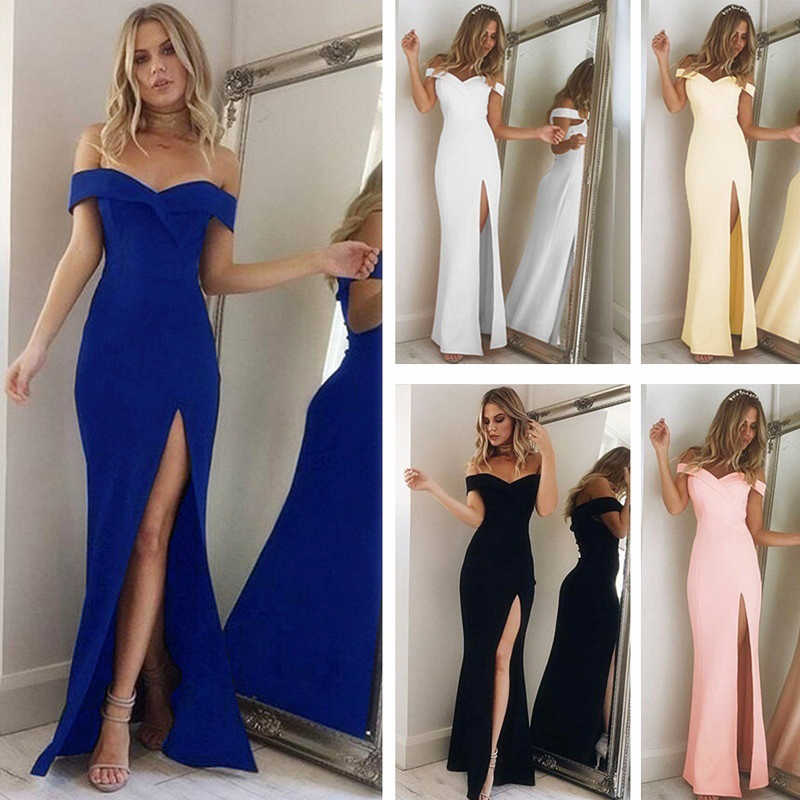 Summer Women Dress Europe And The United States Women Sexy Dress Fashion Sexy Mosaic Tube Top Slit Dress Sexy Party Dresses