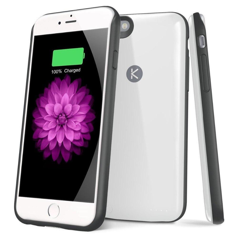 Coques de chargeur de batterie pour Apple Iphone 6 6 s Plus 5.5 2400 MAH batterie externe Portable batterie de secours coque de téléphone