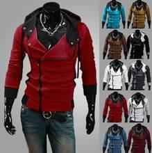 M-6XL Hoodies hombres Sudadera con capucha chaqueta Casual masculina  chaqueta con capucha moleton Assassins Creed a3d6826646cf