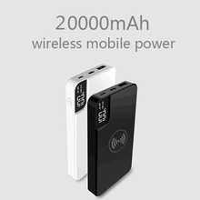 Power bank Wireless Charging 20000mAh Mobile Phone  Mobile Power with Bracket Digital Display for iPhone X 8plus for xiaomi