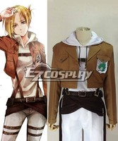 Japanese Anime costume Attack on Titan (Shingeki no Kyojin) Annie Leonhart Military Police Cosplay Outfit E001